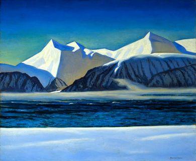 Нарисуем зиму акриловыми красками 2