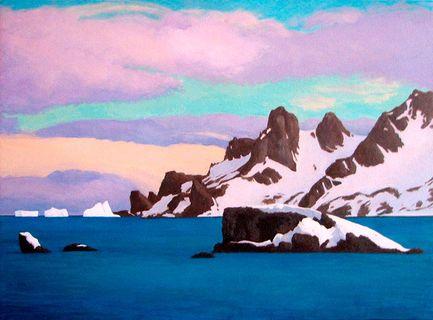 Нарисуем зиму акриловыми красками 4