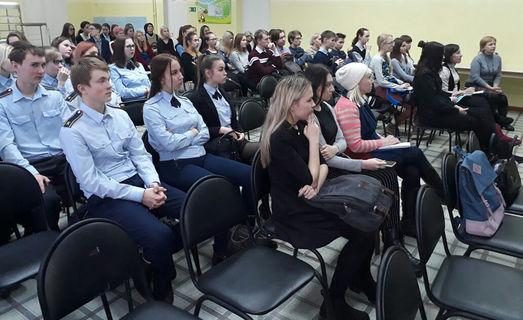 Встреча старшеклассников г. Глазова с Андреем Львовичем Туркевичем и Алексеем Александровичем Дерюгиным 2